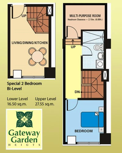 2 BR condo for sale near Boni MRT Station and beside Robinsons Mall EDSA